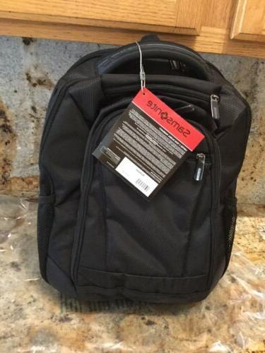 "Samsonite® Tectonic Backpack For 15.6"" Laptop Black~ NWT"