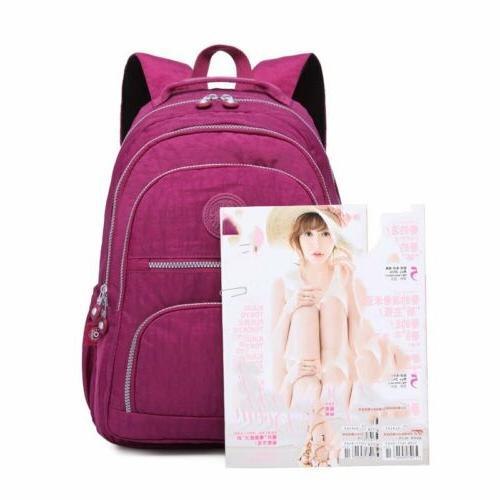 TEGAOTE Unisex Multiple Pocket Student Teenage Laptop Backpack
