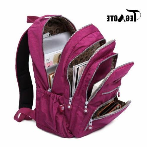 TEGAOTE Unisex Multiple Student Bag Teenage Laptop Travel