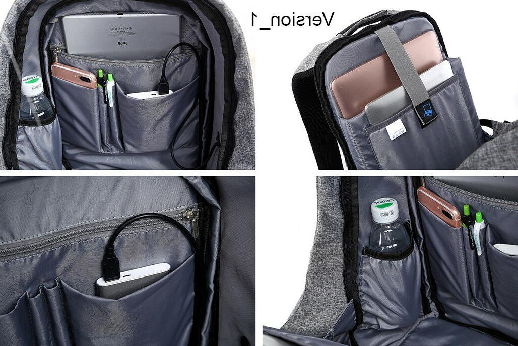Travel Anti-Theft Backpack External USB Notebook