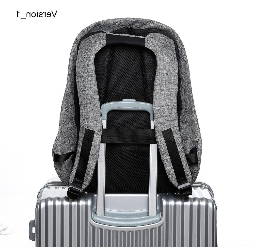 Travel Anti-Theft External USB Notebook School Bag