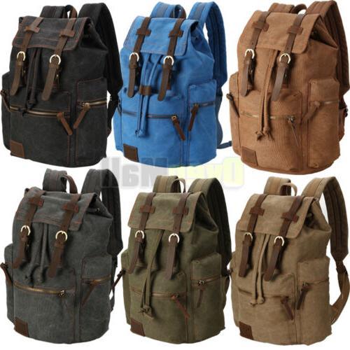 travel canvas sport rucksack camping school satchel