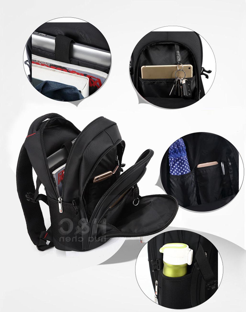 "Travel 17"" Laptop School Bag Hiking Rucksack Shoulder Swiss Notebook"