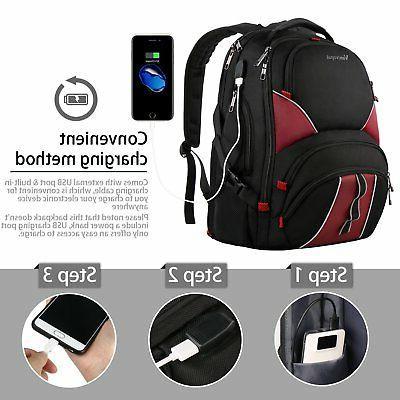 Travel Backpack, Large,USB Charging 17 Inch,Ergonomic