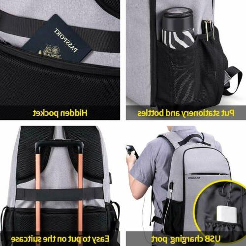 Travel Backpack Men & Anti Theft Carry on College Schoo