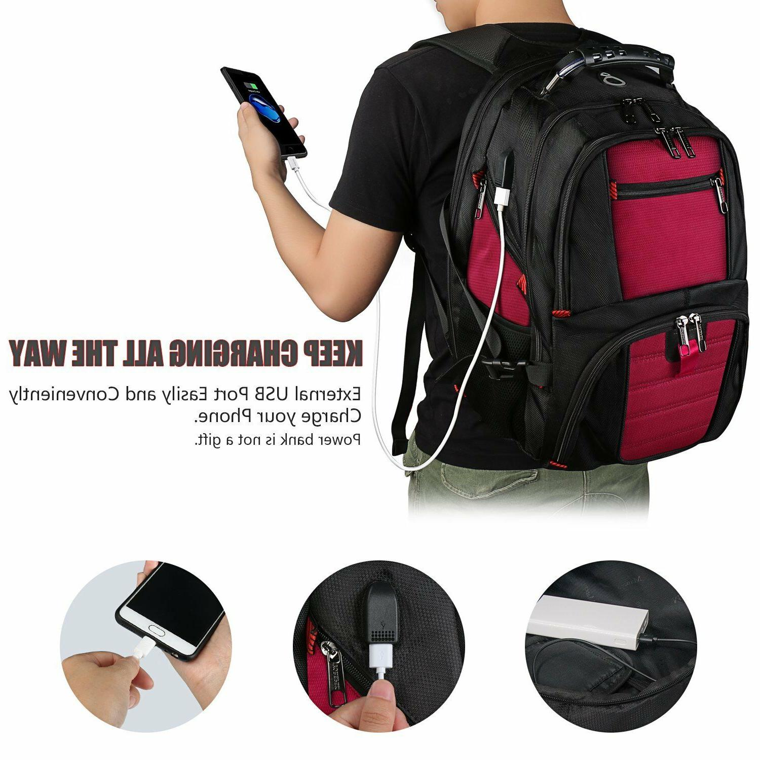 Travel Laptop Backpack Men Women Charging Fit Inch Laptop