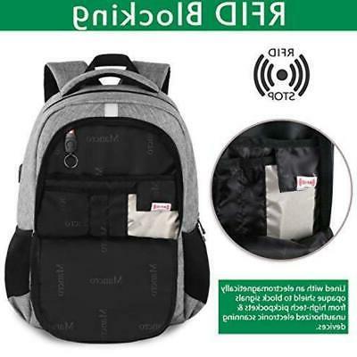 Mancro Travel w/ RFID Security System USB Port