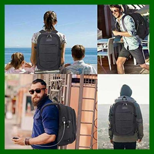 Travel Laptop Backpack Resistant Theft Bag W USB &