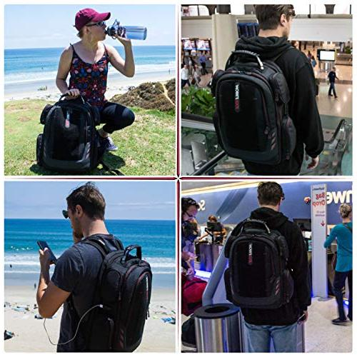 Mobile Edge Gaming Backpack with Velcro Front Black with