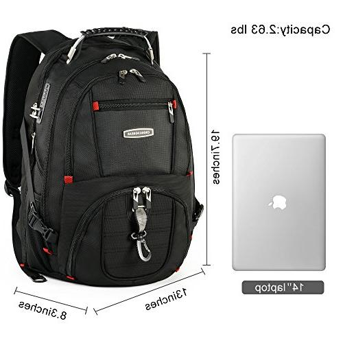 Backpack with USB Port Waterproof 17.3 Tablets