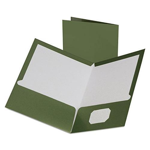 two pocket laminated folder