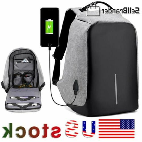 unisex anti theft backpack laptop travel chest