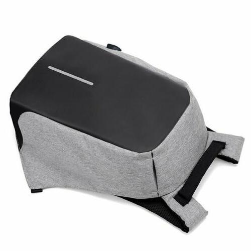 Unisex Anti-Theft Laptop Travel School USB Charging Port
