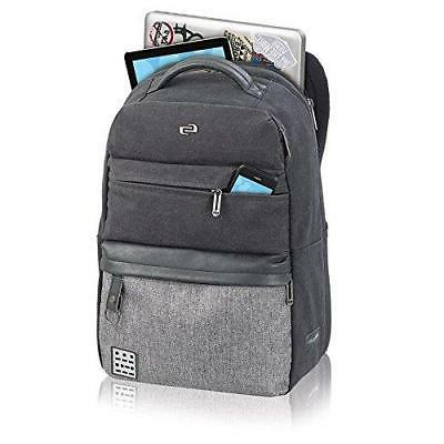 Solo Code Laptop Backpack, Black/Grey