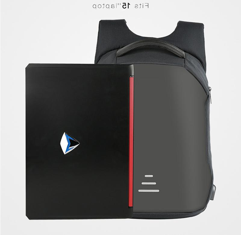 US Anti-theft Laptop Notebook Backpack+USB Charging Business Bag