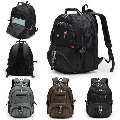 US Men Nylon Backpack Notebook Rucksack Shoulder