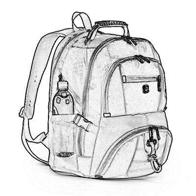 US Men Nylon Backpack Notebook Laptop Rucksack