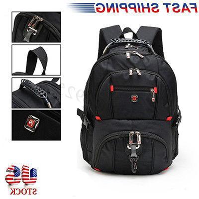 US Men Nylon Backpack Notebook Laptop Travel Sports Rucksack