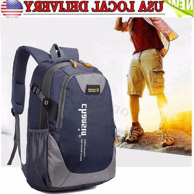 us mens travel nylon backpack laptop shoulder