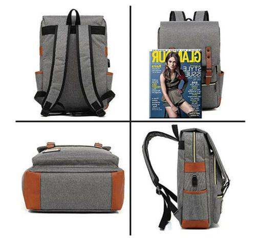 US Backpack School Rucksack Laptop Satchel Bag