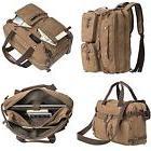 """Vintage Canvas Backpack Briefcase 15"""" Laptop Sleeve Messenge"""