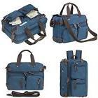 HIKA Vintage 3-Way Convertible Briefcase Laptop Backpack Mes