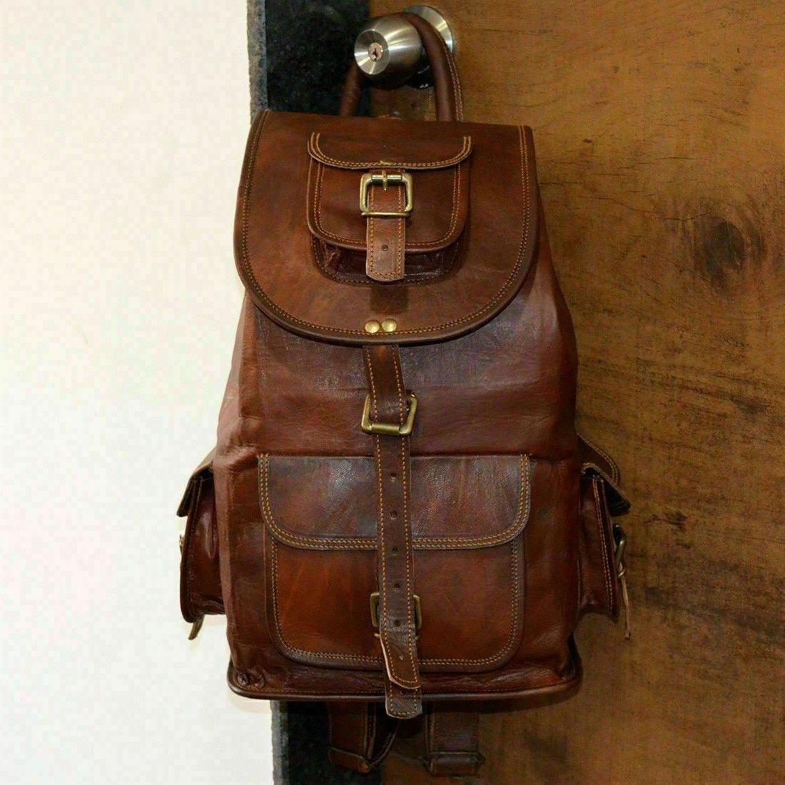 Vintage Genuine Leather Backpack Satchel