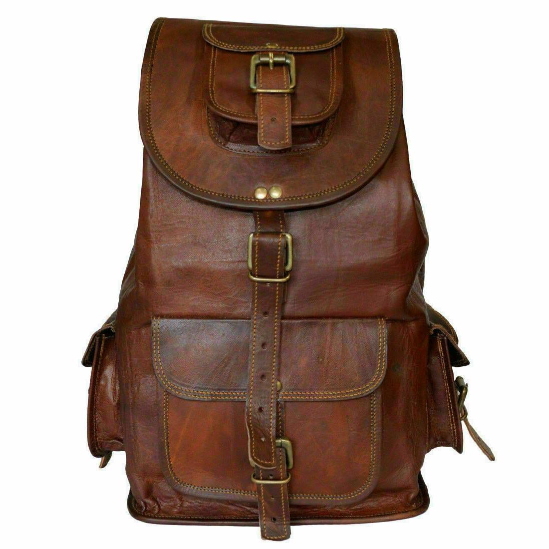 Vintage Genuine Laptop Backpack Rucksack Messenger Bag Satchel