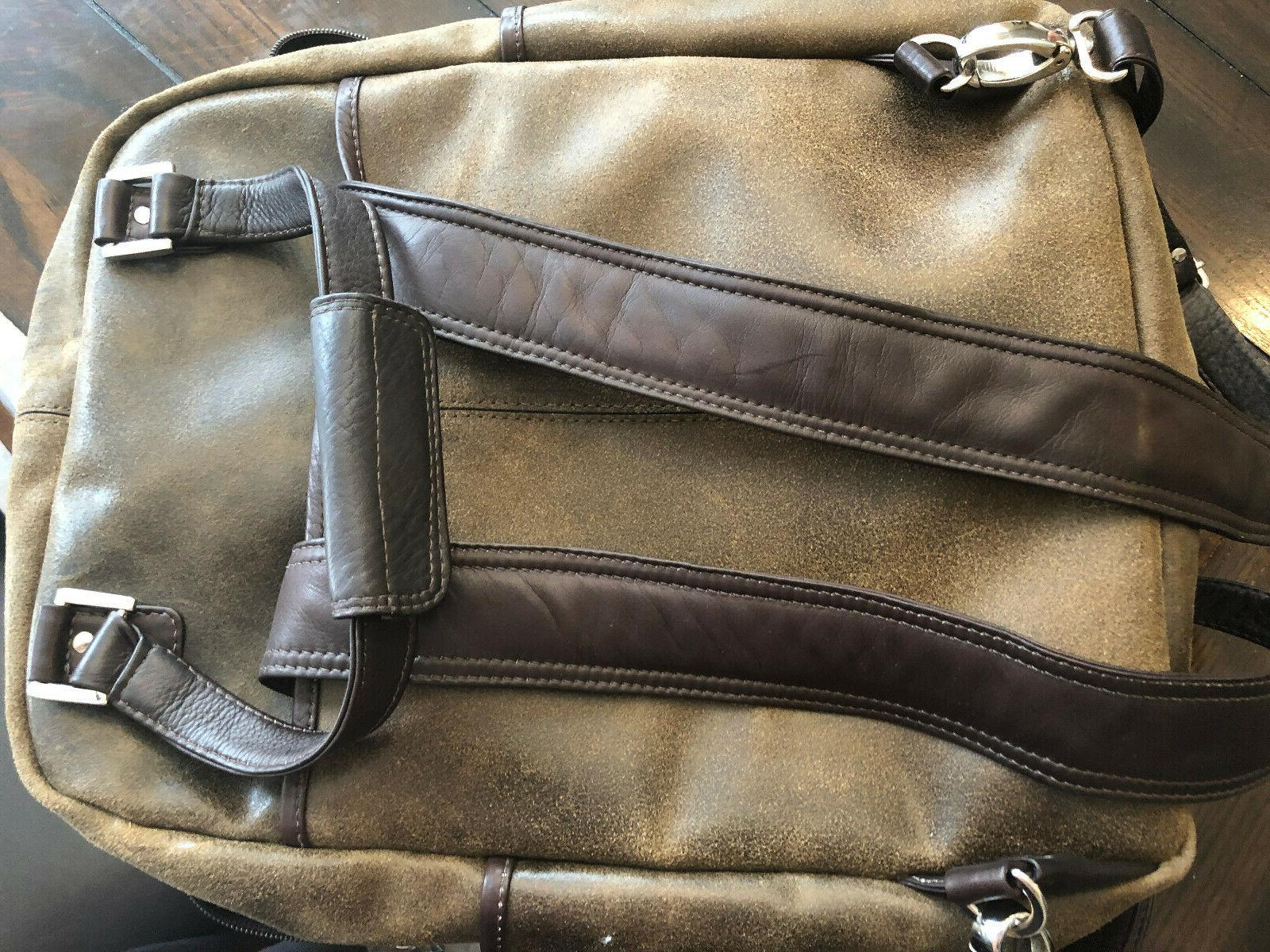 Piel Carry-All Convertible Backpack,Vintage $375+++