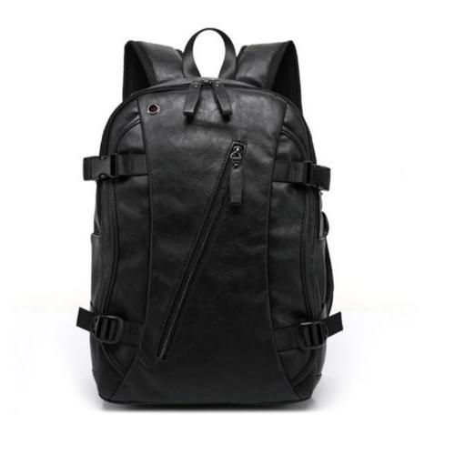 Vintage Men's Leather Backpack Waterproof School Travel