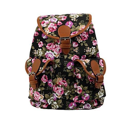 vintage women canvas satchel shoulder