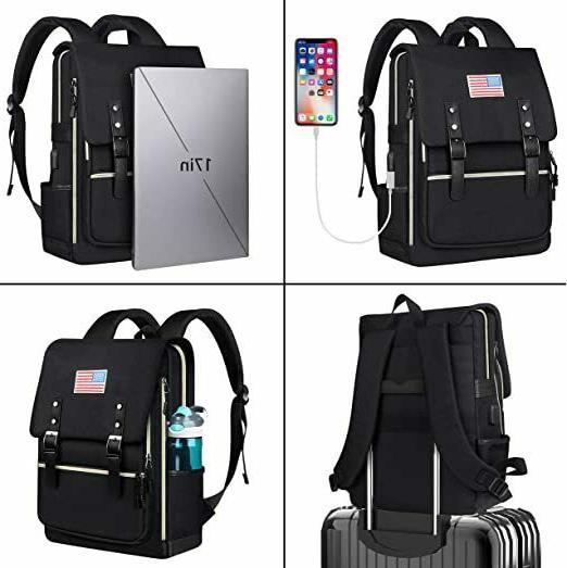 Water Resistant Laptop Backpack & Travel USB For Men