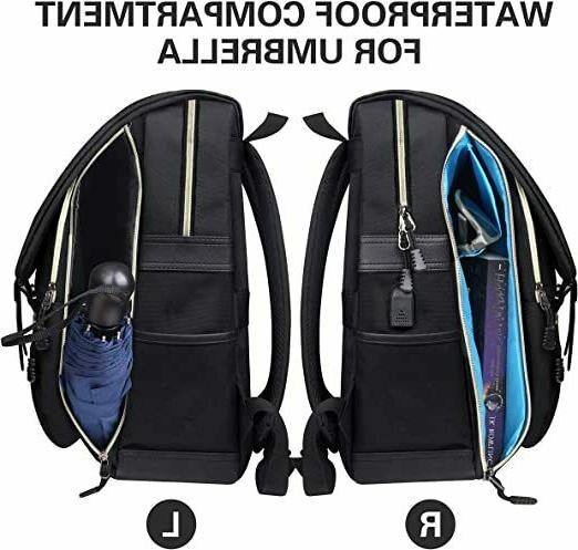 Water Resistant Backpack & USB Port Men