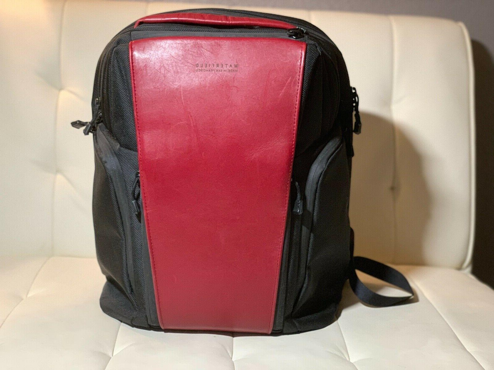 WaterfieldPRO EXECUTIVE BACKPACK Nylon with Crimson Leather Accent