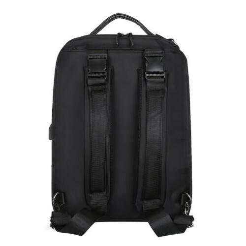 """Waterproof 15.6"""" Laptop Men School Travel Bag Port"""