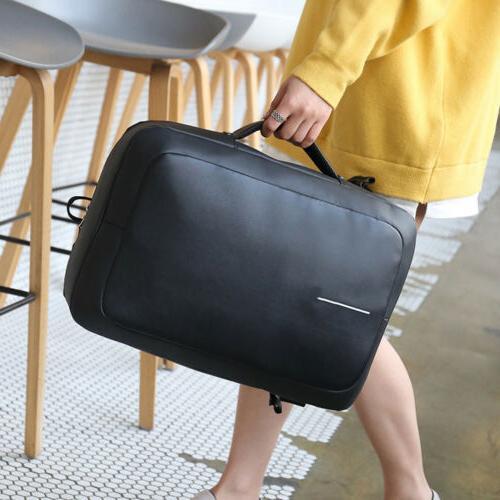 Waterproof Anti-theft Laptop Backpack USB Port School Travel Bag