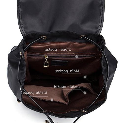 BOSTANTEN Waterproof Laptop Travel Backpacks Nylon Bag for Black