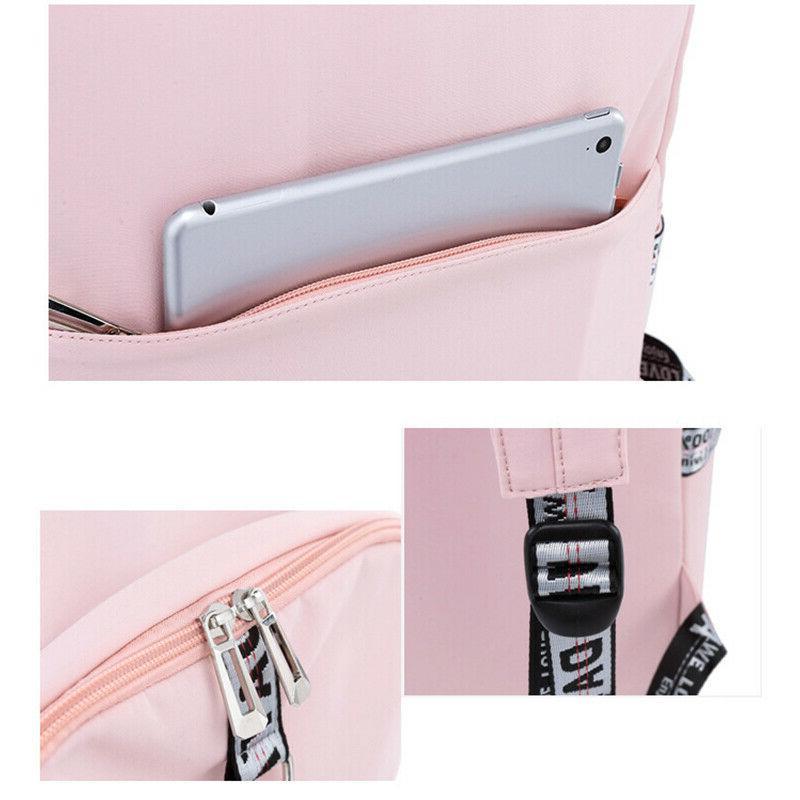 Waterproof Women Bags for USB Charge Travel Bagpack