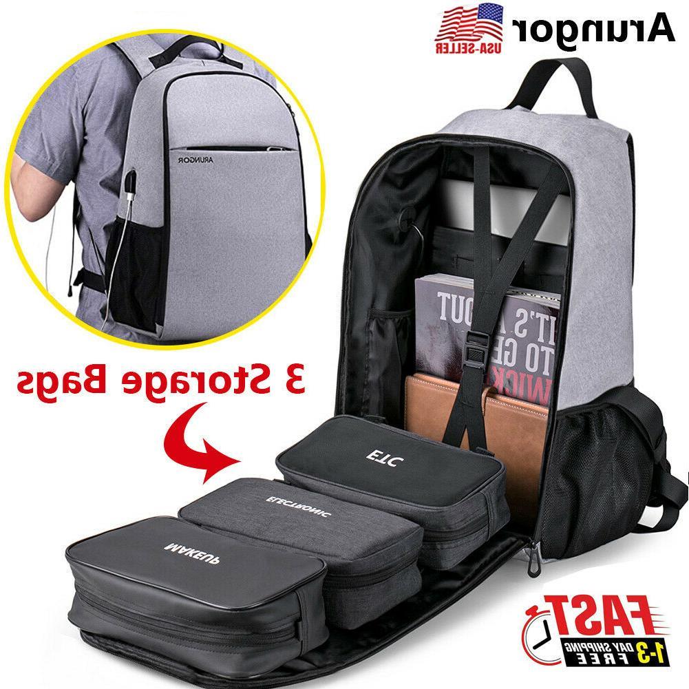 waterproof men laptop backpack business school bag