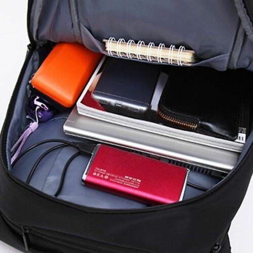Anti-theft Men Backpack School w/ USB Port