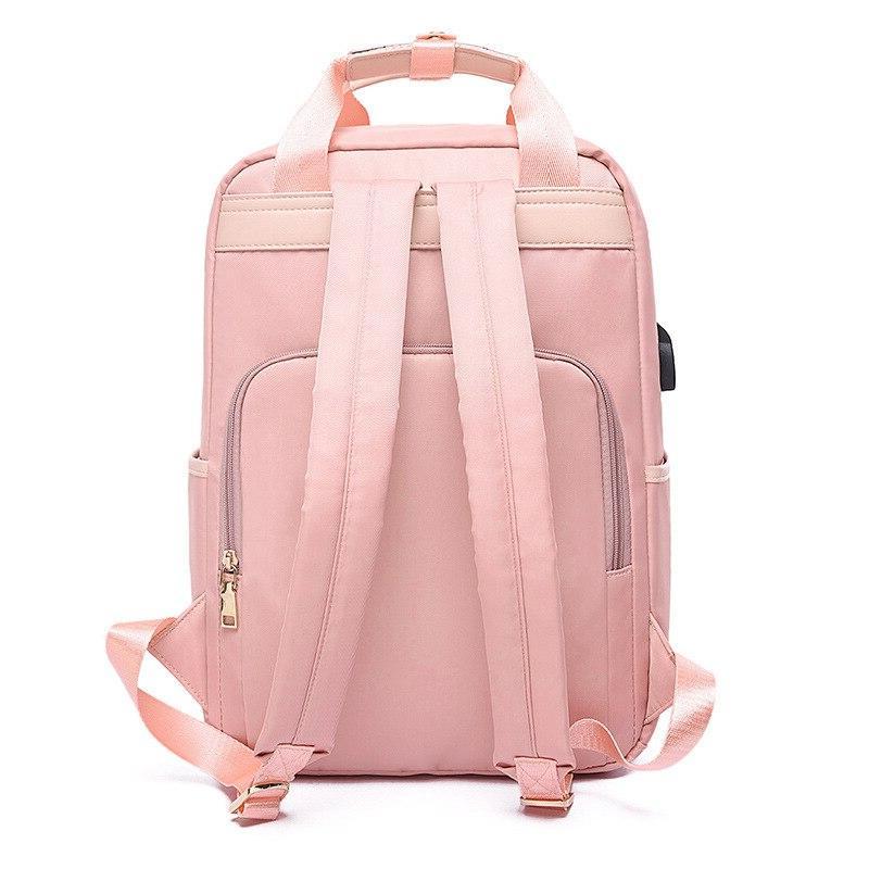 Litthing Waterproof Pink <font><b>Backpack</b></font> 13-15.6 Women <font><b>Oxford</b></font> Black