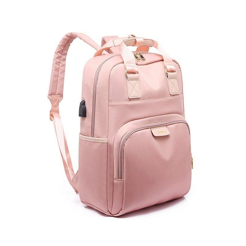 Litthing Waterproof Pink <font><b>Backpack</b></font> <font><b>Backpack</b></font> 13-15.6 Inch <font><b>Backpack</b></font> Women <font><b>Oxford</b></font> Cloth Black