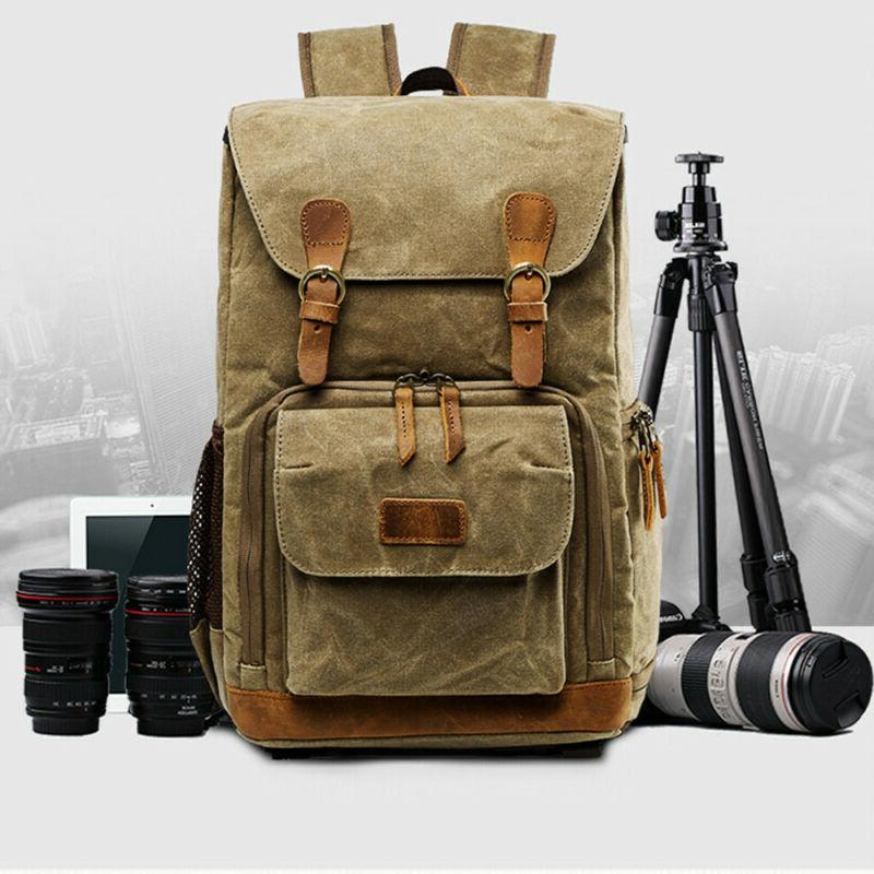 Hot Premium Vintage Photography Backpack Waterproof Photogra