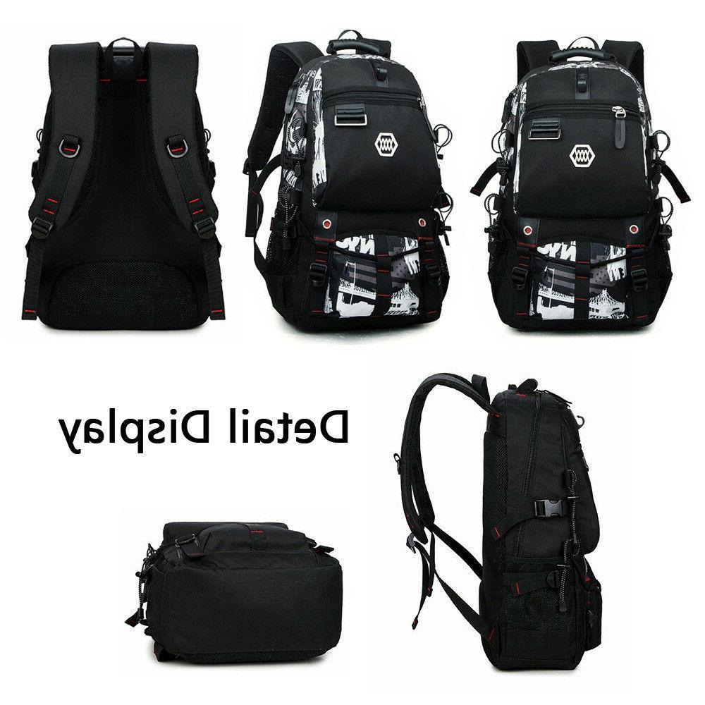 Waterproof Swiss Travel Backpack Men School