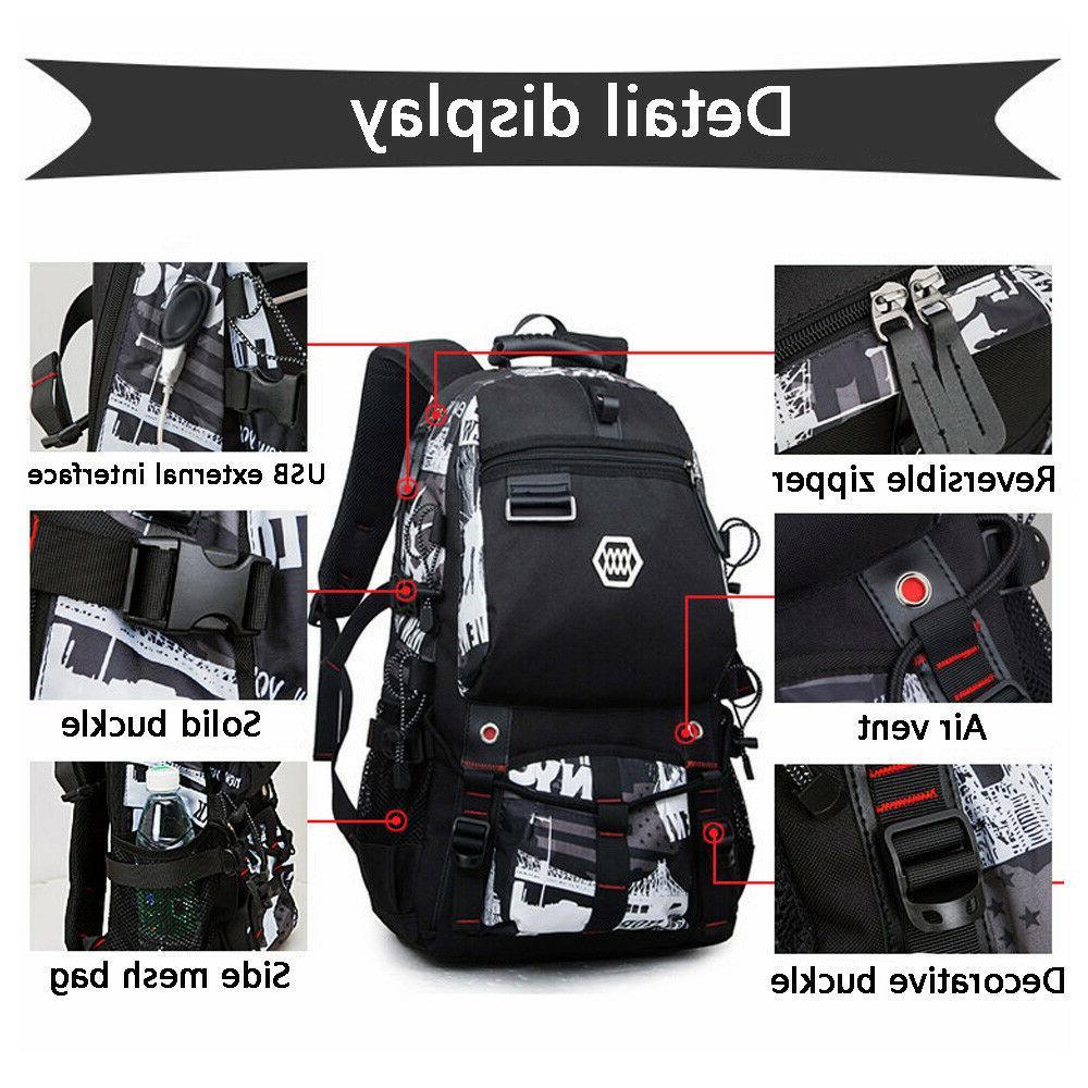 "Waterproof Swiss Backpack Men 15""Laptop School Bag"