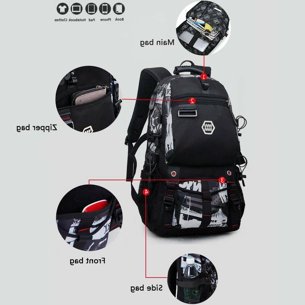 "Waterproof Swiss Travel Backpack Men 15""Laptop multifunction School Bag"