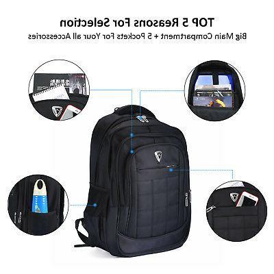 "Waterproof Travel 17"" Laptop Multifunction School Bag New"