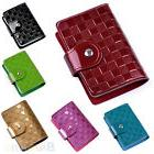 Woman Patent Leather ID Credit Card Case Holder Pocket Bag W