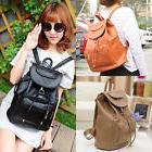 New Women's Backpack Travel PU Leather Handbag Rucksack Shou