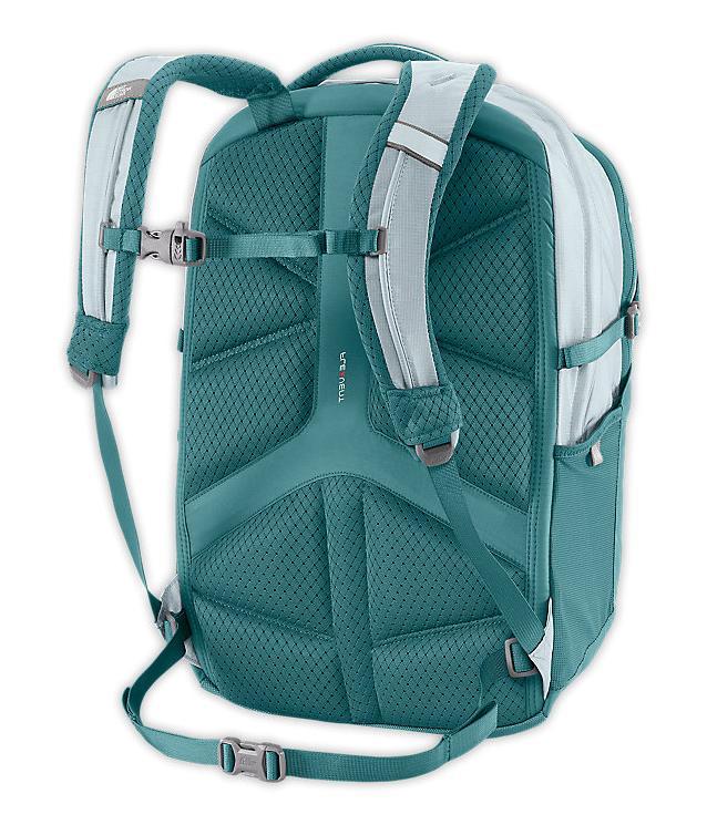 The North Borealis Backpack HydroGreen/SnowconeRed